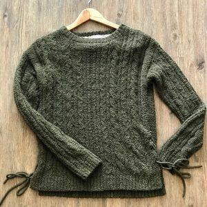 Xhilaration // Olive Side-Tie Sweater